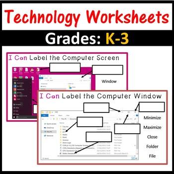 Technology Computer Worksheets – Grades K-3