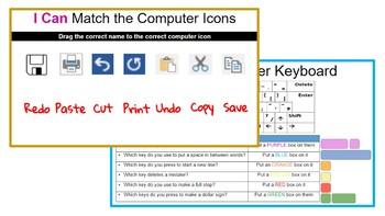 Google Slides: Drag & Drop Computer Activity Worksheets - Grades K-3
