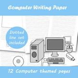 Computer themed Writing Paper