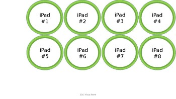 Computer and iPad Numbers - Lime Green