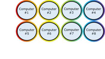 Computer and iPad Numbers - Noah's Rainbow