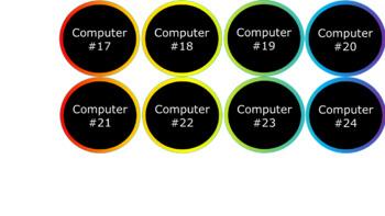 Computer and iPad Numbers - Noah's Rainbow - Chalkboard Version