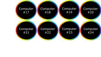 Computer and iPad Numbers - Noah's Rainbow V2 - Chalkboard Version