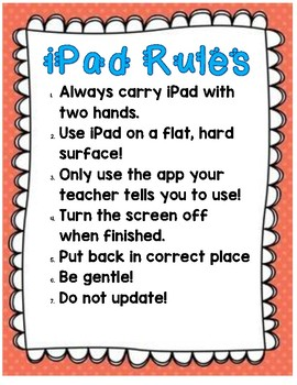 Computer and iPad Rules and Contract for Students