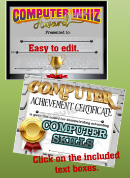 Computer/Technology Certificates Set - Fillable