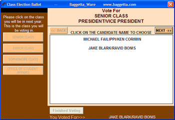 Computerized Election Ballot Class Election Lesson Plan Advisor