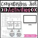 Computerless Technology Activities - Keyboard Focus