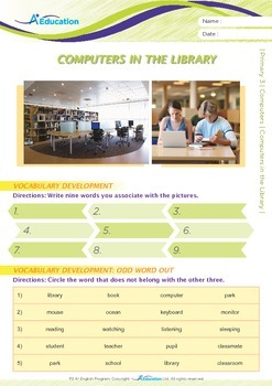 Computers - Computers in the Library - Grade 3