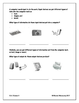 Computers Introduction - Input, Output, Storage (upper elementary)