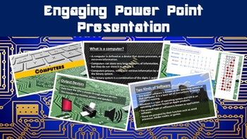 Computers No Prep Lesson with Power Point, Worksheet and Binary Activity