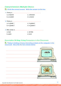 Computers - Using Computers in the Classroom - Grade 1