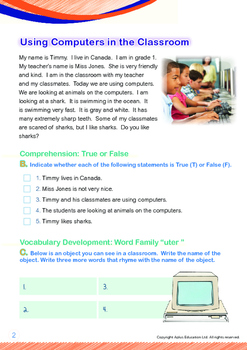 Computers - Using Computers in the Classroom (with 'Triple-Track Writing Lines')