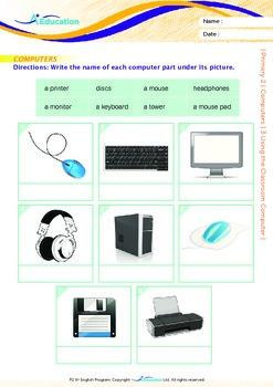 Computers - Using the Classroom Computer - Grade 2