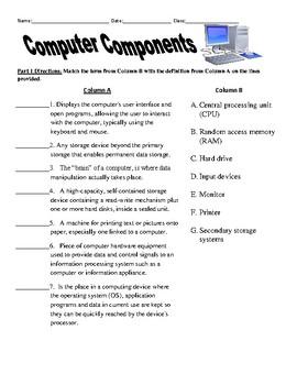 Computers in Health Care Worksheet