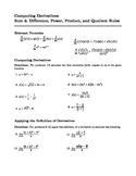 AP Calculus - Computing Derivatives: Sum, Power, Product,