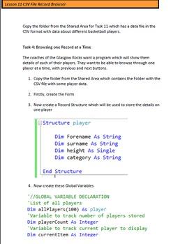 Computing Science in Visual Studio 2012