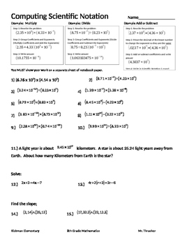 Computing Scientific Notation CC.8.EE.4