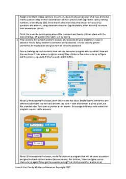 Computing Unit Plan: Create a Digital Math Game!