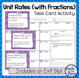 Unit Rates with Complex Fractions - Task Card Activity (7.RP.1)