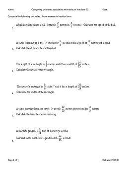 Computing unit rates associated with ratios of fractions  MAFS.7.RP.1.1