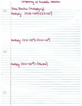 Computing with Scientific Notation (8.EE.1) - Extra Practice/Warm-ups
