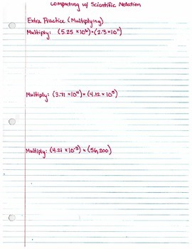Computing with Scientific Notation (8.EE.1) - Extra Practi