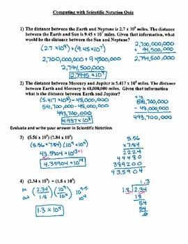 Computing with Scientific Notation (8.EE.1) - Quiz