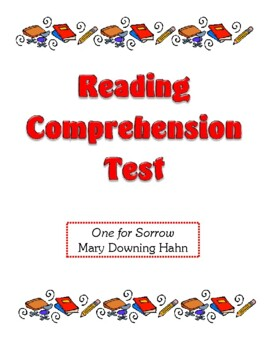Comrpehension Test - One for Sorrow (Hahn)