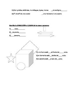 Comunidad - Prueba / Community Vocab Quiz