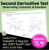 Calculus Second Derivative Test with Lesson Video (Unit 5)