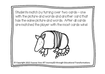 Concentration Armadillos Learning Colors