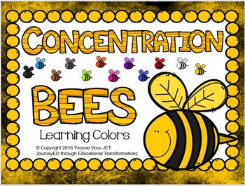 Concentration Bees Learning Colors