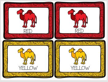 Concentration Camels Learning Colors