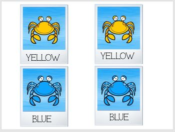 Concentration Crab Selfies Learning Colors