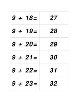 Concentration Game - Adding Nine