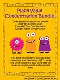 Concentration Games * 2nd Grade Math Bundle * 2.NBT.3 * Pl