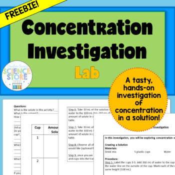 Concentration Investigation Lab-FREEBIE!