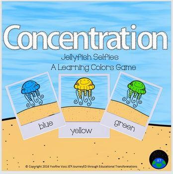 Concentration Jellyfish Learning Colors