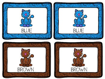 Concentration Learning Colors Cats