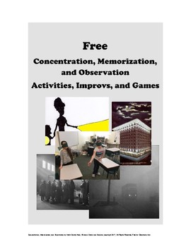 Concentration, Memorization, and Observation Games, Activities, and Improv FREE!