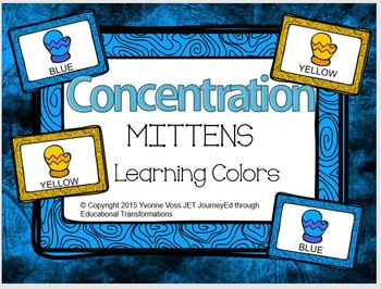 Concentration Mittens Learning Colors