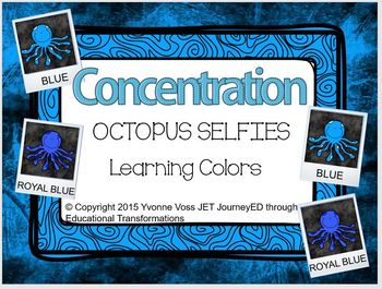 Concentration Octopus Selfies Learning Colors