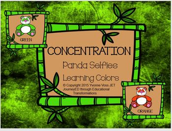 Concentration Panda Selfies Learning Colors