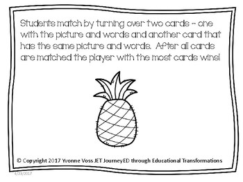 Concentration Pineapples