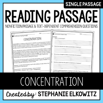 Concentration Reading Passage