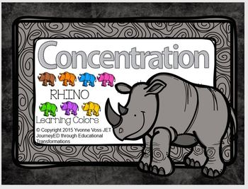 Concentration Rhino Learning Colors