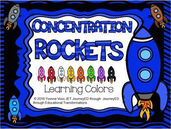 Concentration Rockets Learning Colors