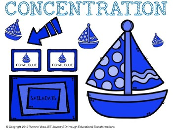 Concentration Sailboats