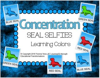 Concentration Seals Learning Colors