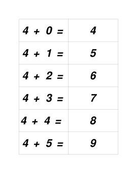 Concentration Sets for Adding 1 thru 10